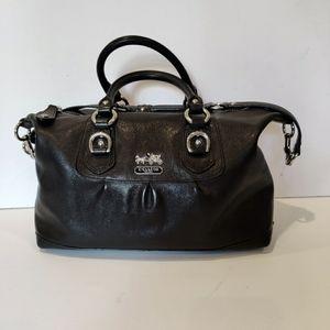 COACH Madison Sabrina Black Leather Satchel